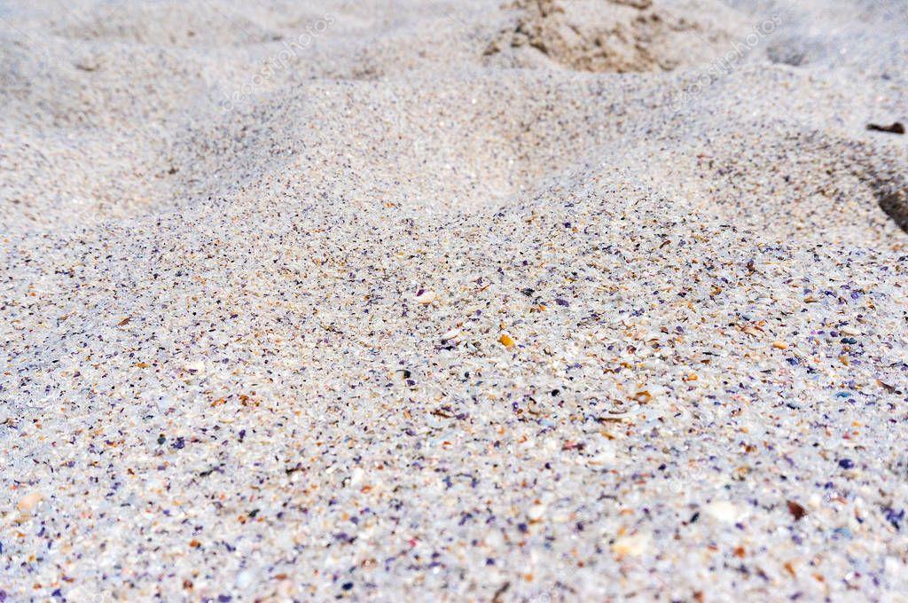Beautiful white sand texture