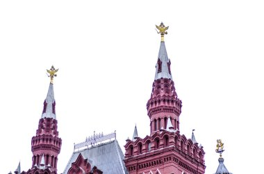 The original view of the Historical Museum in Moscow in Red square