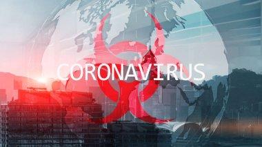 Coronavirus on China Background. Microbiology And Virology Consept stock vector