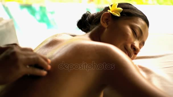 female relaxing at spa
