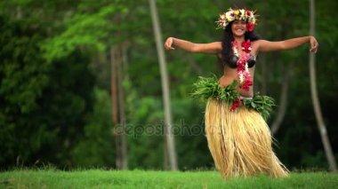 Lány tánc hula
