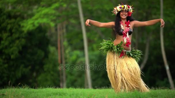 girl dancing hula