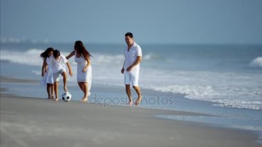 family playing with ball