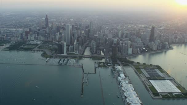 Michiganské jezero přístav Waterfront