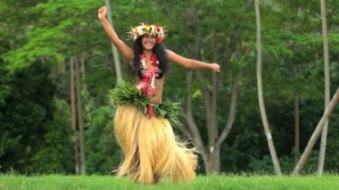 hula dancer performing outdoor
