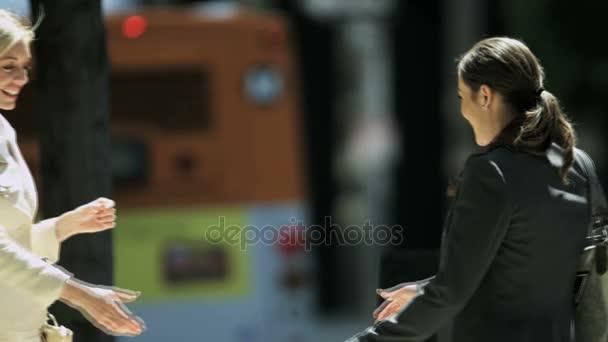 businesswomen meeting with handshake