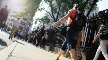 City commuters walking