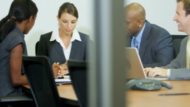 executive leading meeting