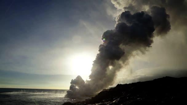 Kilauea erupting volcano boiling magma