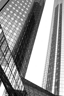futuristic skyscraper in the banking district