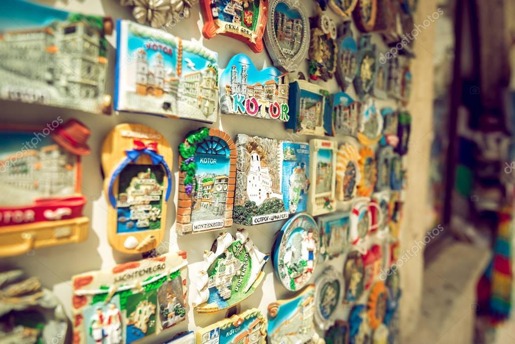 Fridge magnet souvenir in Kotor