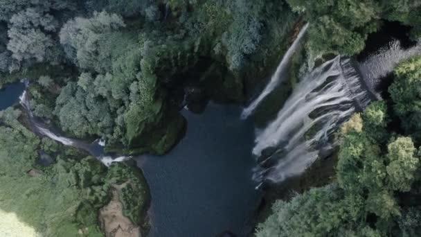 Beautiful view of waterfall landscape