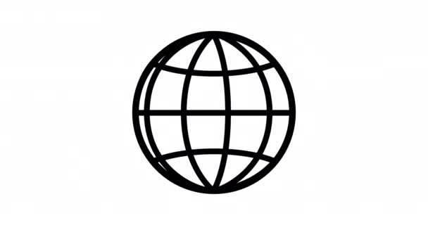2d animace zeměkoule planety Země