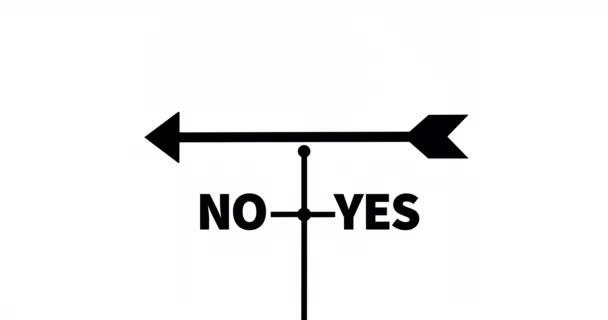 Větrná korouhev ano I ne. Symbol volby.