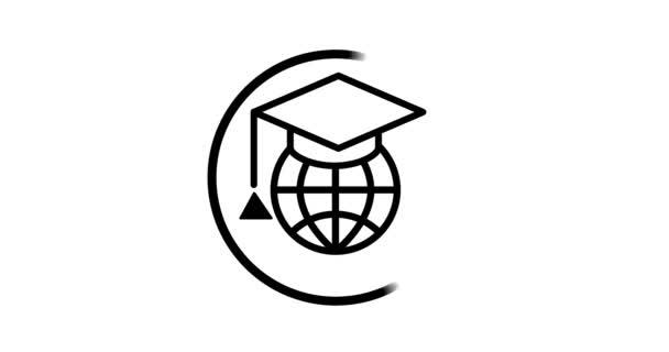 Ikona soubor internet vzdělávání koncept, e-learning zdroje, vzdálené on-line kurzy