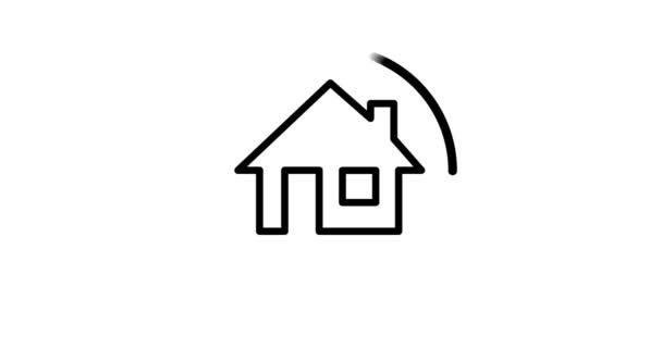 Ikona nastavit výstavbu domu, domácí stavební proces.