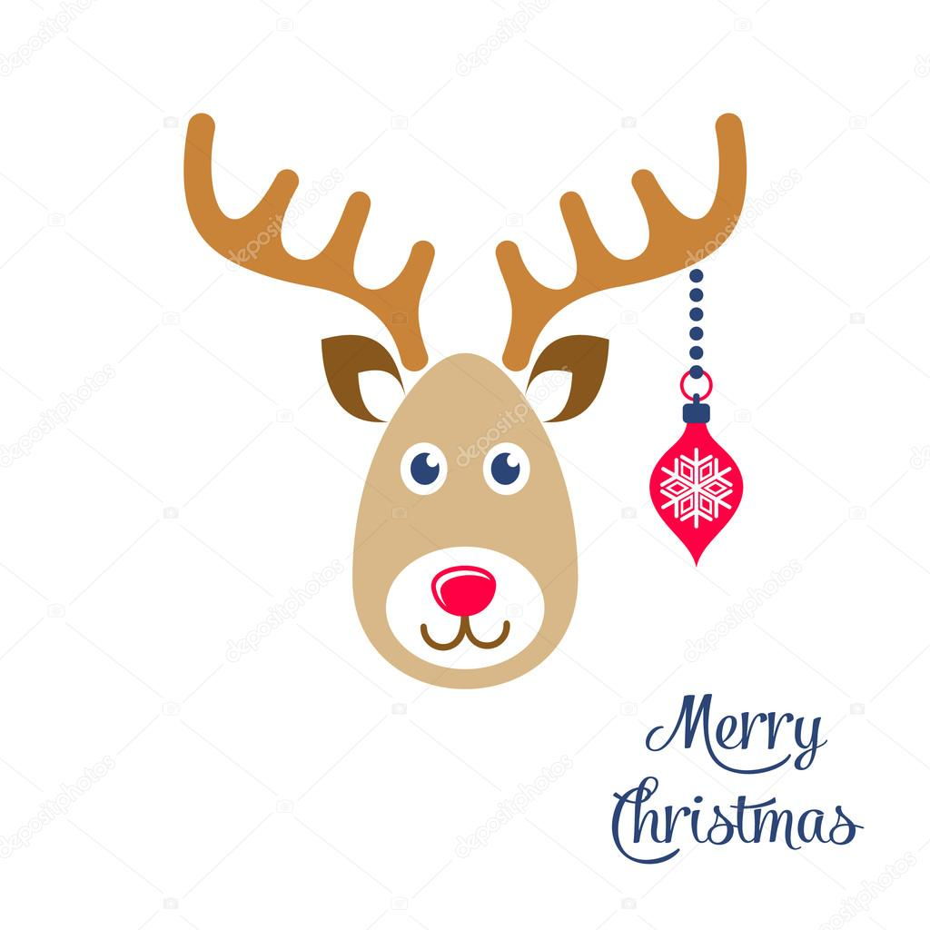 vector cartoon reindeer face christmas icon stock vector blumer rh depositphotos com cartoon reindeer face outline cartoon reindeer face
