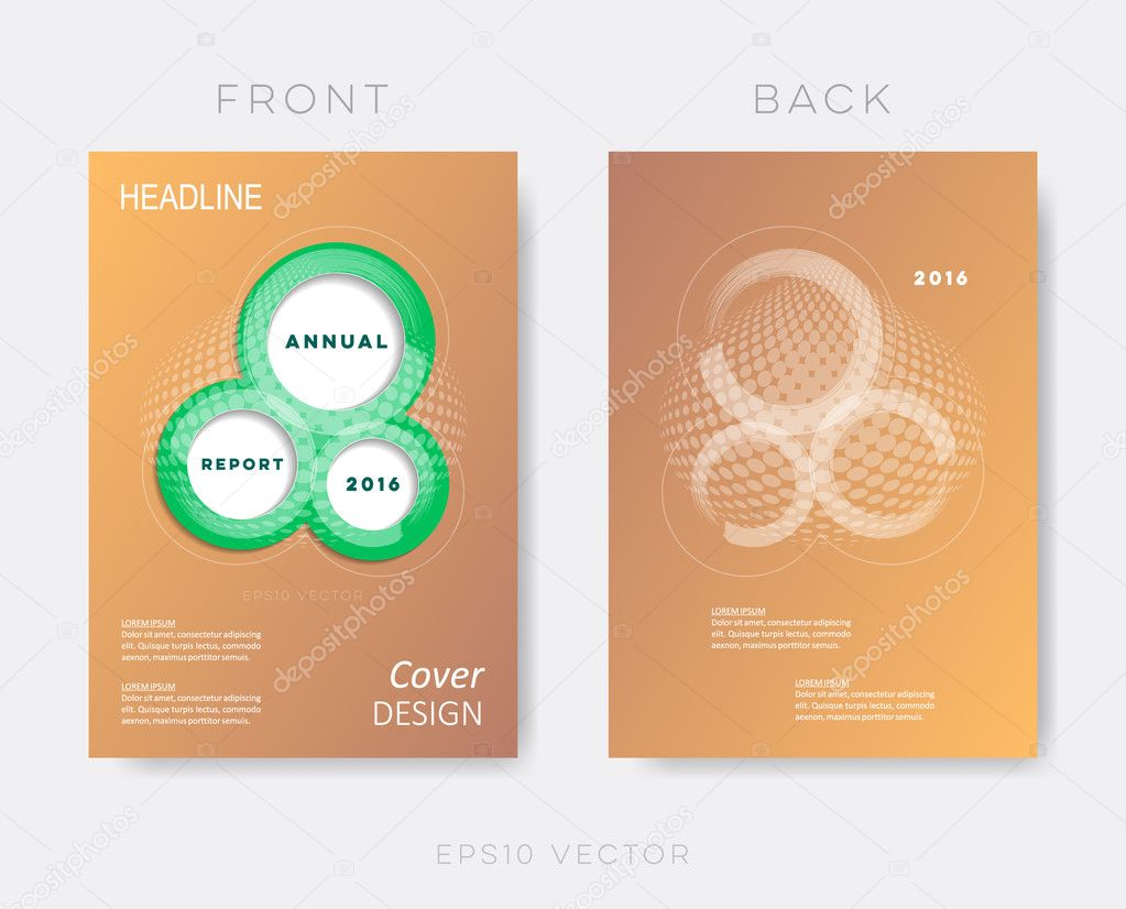 Creative Modern Annual Report Design Template Stock Vector - Annual report design templates 2016