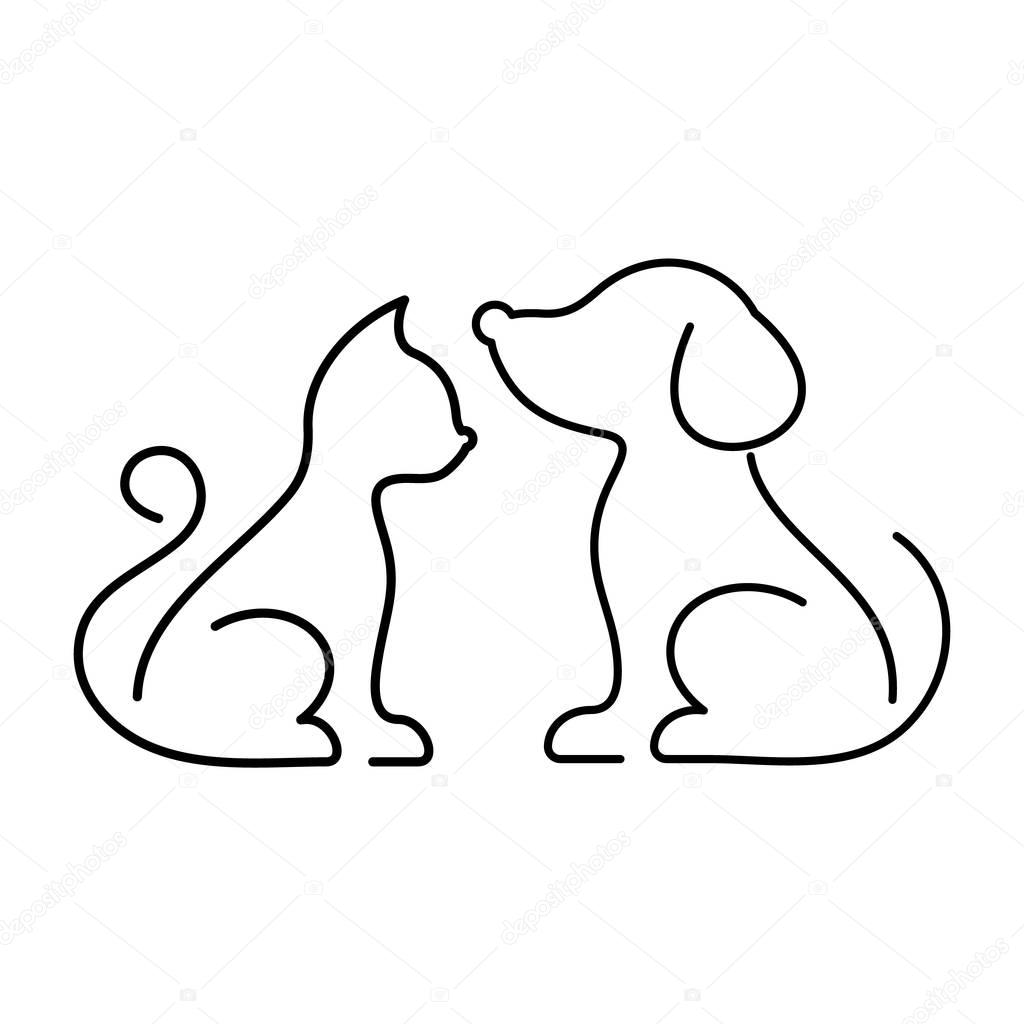 Black Vector Cat And Dog Icons Stock Vector C Blumer 1979 129630782