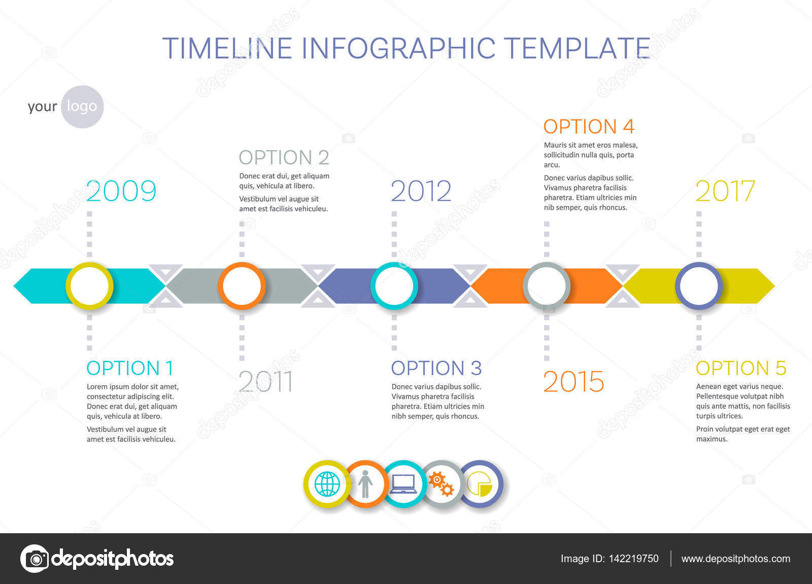 vector timeline infographic template — stock vector © blumer-1979