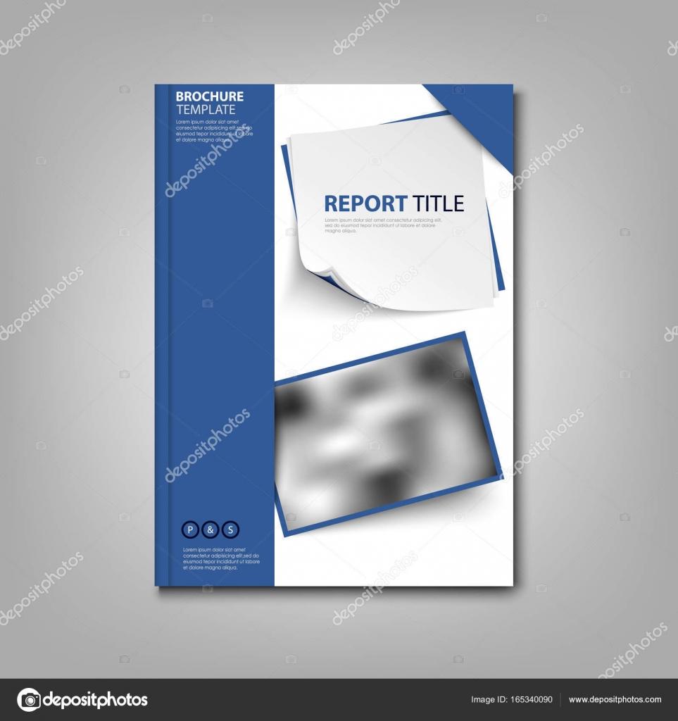 Buch der Broschüren oder Flyer mit blauen Etiketten Vorlage ...
