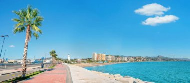 Seaside promenade in Malaga
