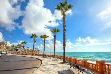 Seafront promenade of Benalmadena beach