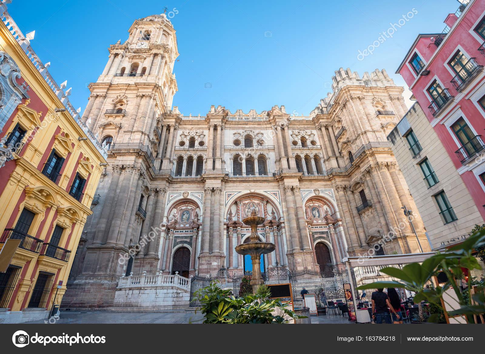 Malaga Cathedral On Plaza Del Obispo Stock Photo C Bareta 163784218