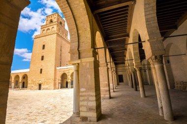 Great Mosque through arcade of courtyard