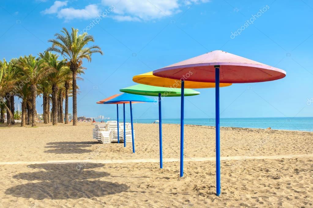 Summer beach in Torremolinos
