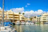 Fotografie Scenic view of Puerto Marina in Benalmadena. Costa del Sol, Andalusia, Spain