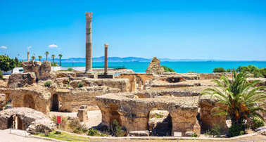 Panoramic view of ancient Carthage. Tunis, Tunisia, North Africa