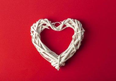 Love (Valentine's day) background or wedding background. White h