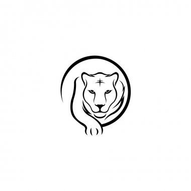 Walking tiger sports logo,Tiger icon isolated on white background, Tiger icon trendy and modern symbol for graphic and web design, Tiger icon flat vector