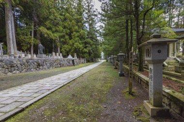 Okunoin Cemetery, one of Japan s most sacred sites. Koyasan, Japan.