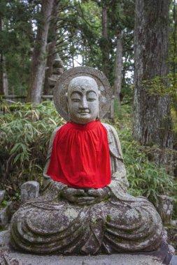 Jizo Statue in Ancient Graveyard of Okunoin Cemetery, Koyasan, Japan.