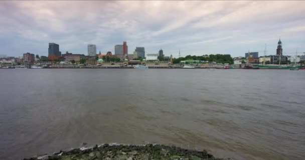 Zeitraffer der Hafen Hamburg, Deutschland