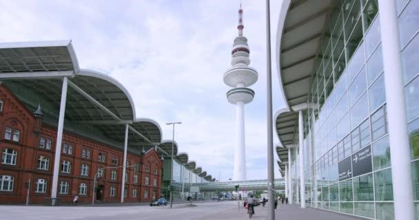 Blick auf die Hamburg Messe und tv Tower in Deutschland