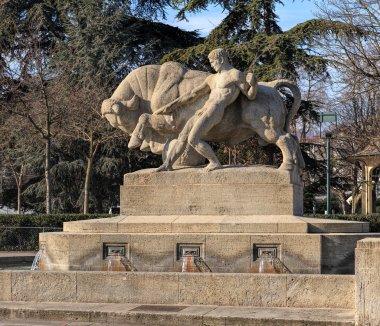 Geiserbrunnen fountain in Zurich