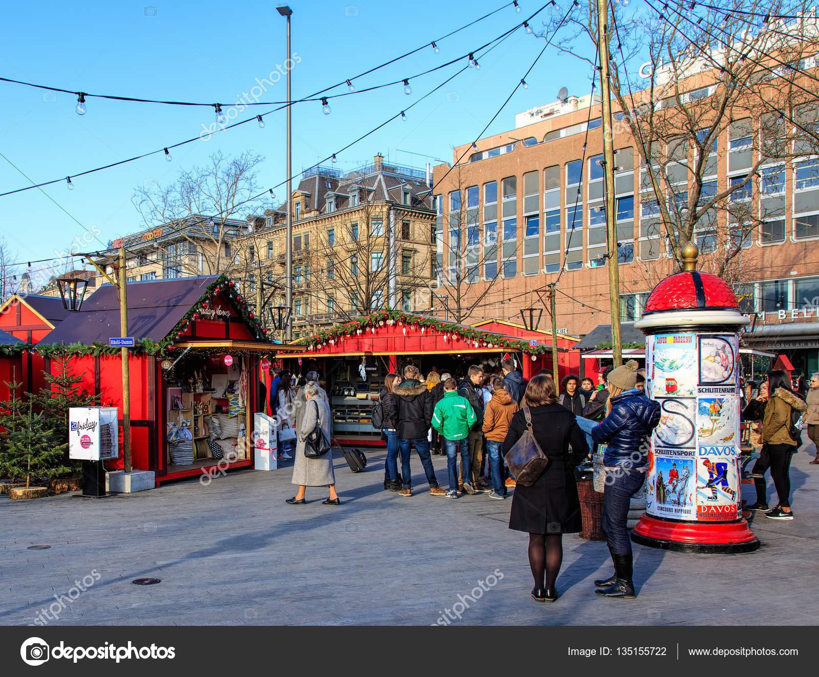 Christmas market in Zurich, Switzerland – Stock Editorial Photo ...