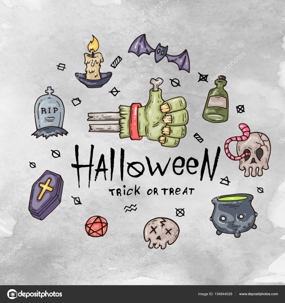 Cartoon Halloween Card Layout For Web And Print Stock Vector C Hiro Hideki 154844028