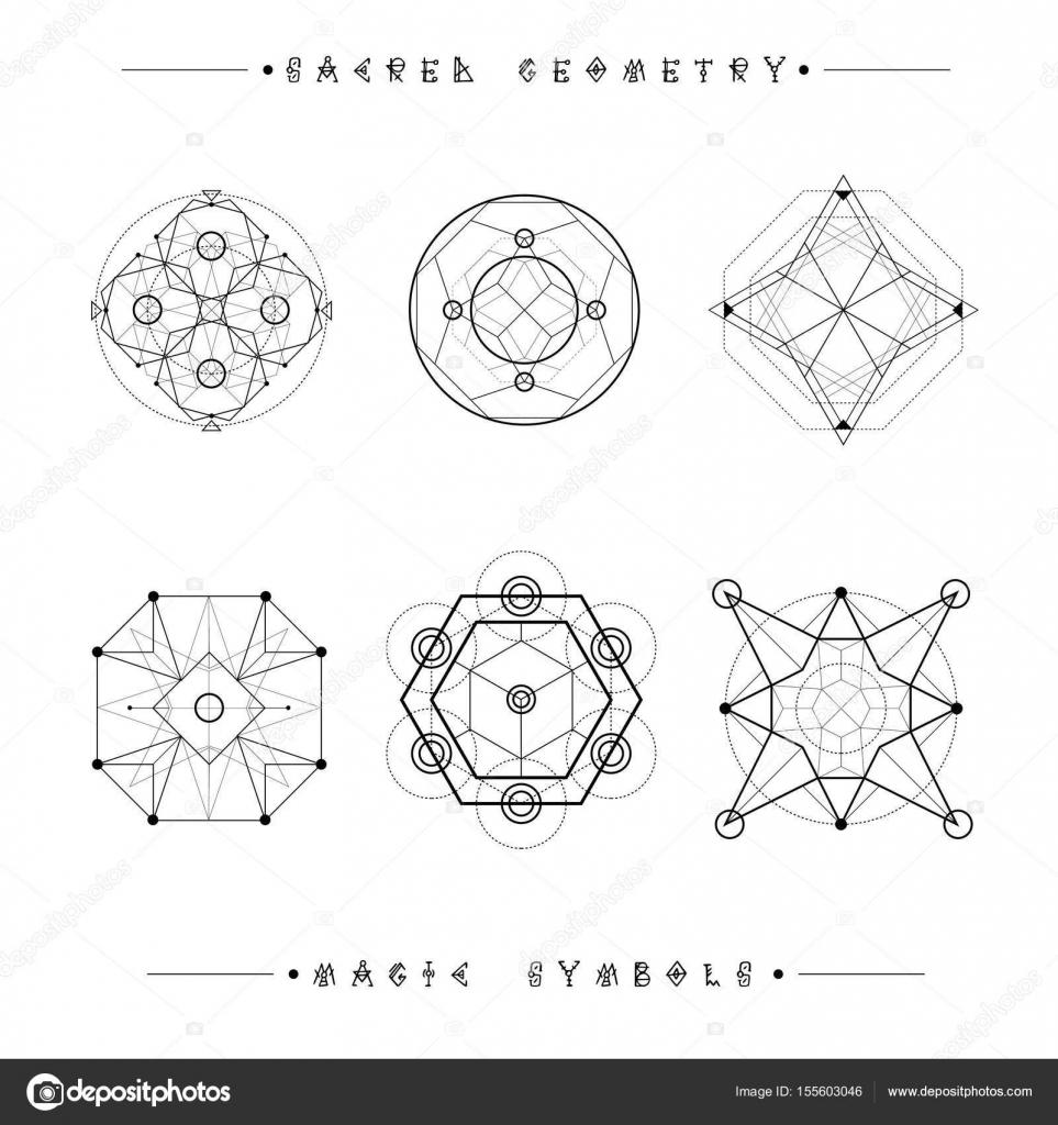 Sacred geometry signs set of symbols and elements alchemy set of symbols and elements alchemy religion philosophy spirituality hipster symbols and elements geometric shapes vector by hiro hideki buycottarizona