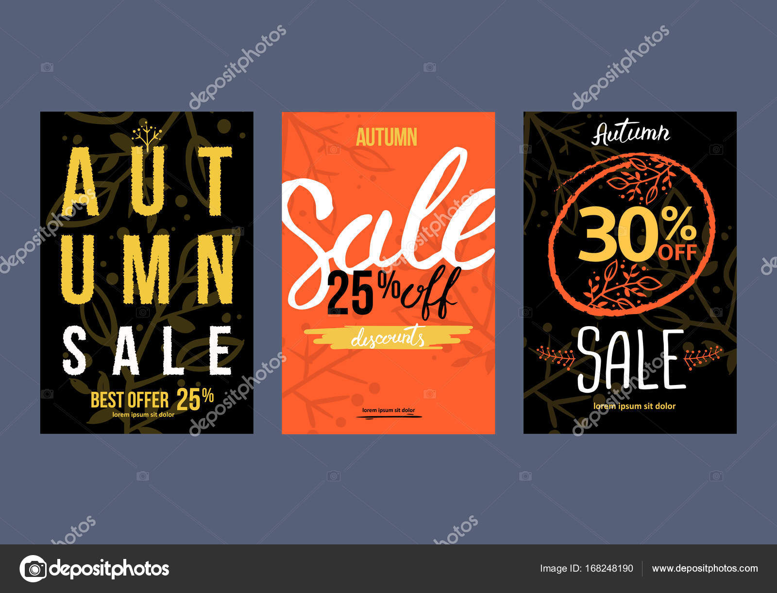 autumn sale background template poster card label banner design