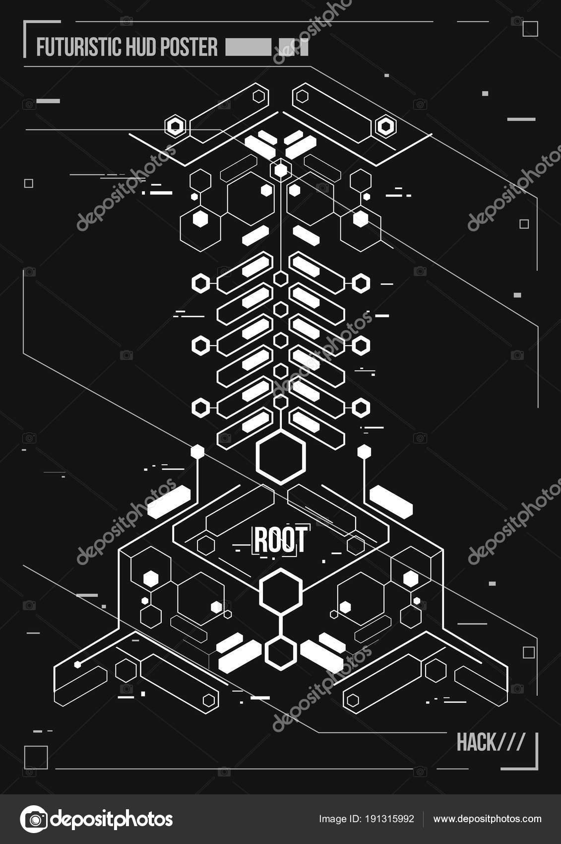cartel futurista cyberpunk plantilla retro cartel