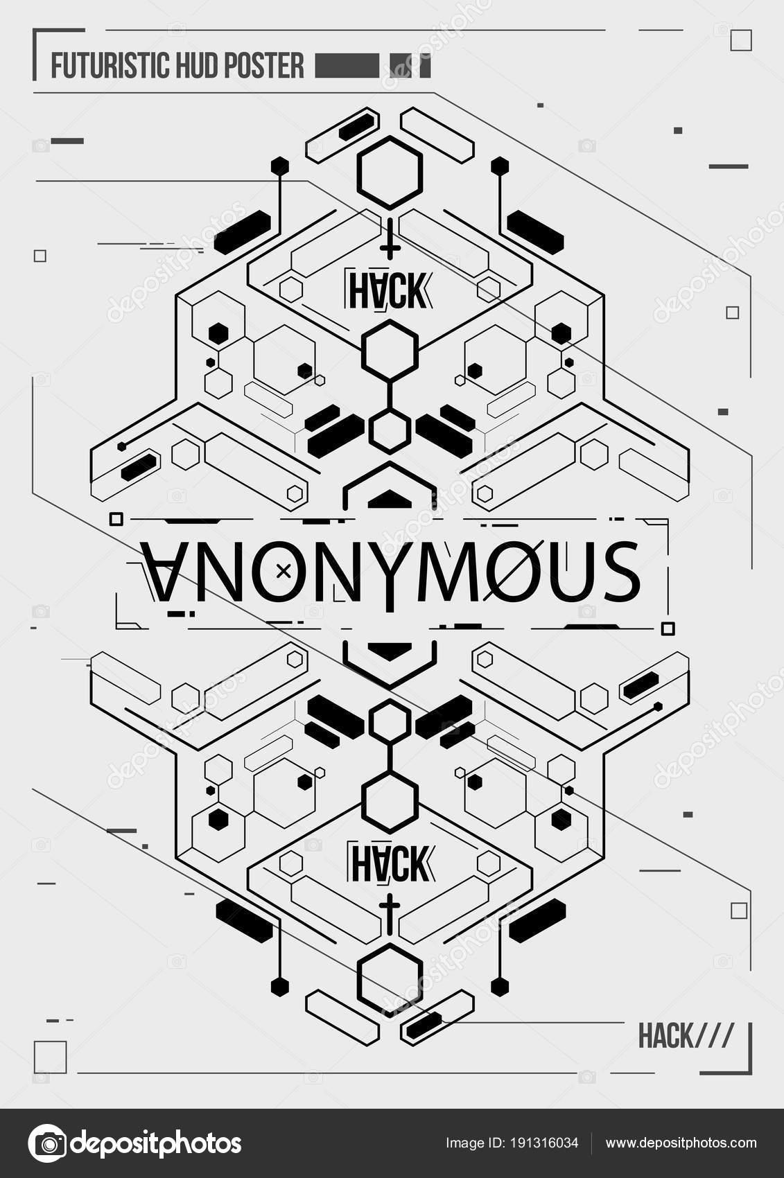 Cyberpunk futuristische Plakat. Retro-futuristischen Plakat Vorlage ...