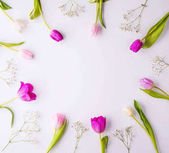 Photo Flowers on a white background.