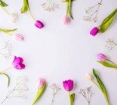 květiny na bílém pozadí.