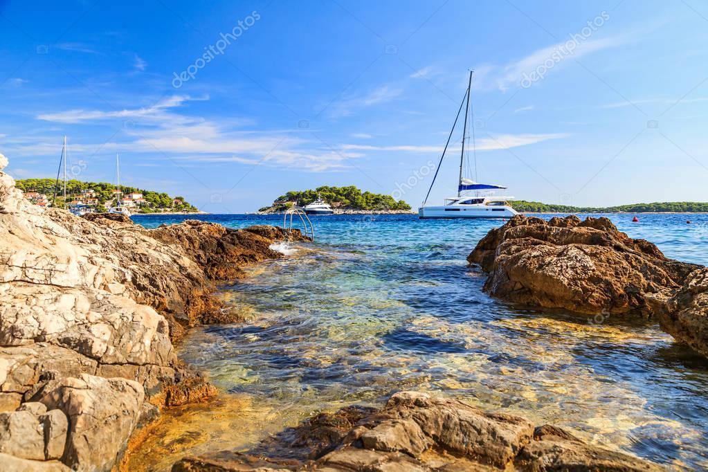 Beautiful adriatic rocky coastline