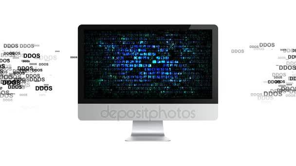 Infezione trojan, attacchi di virus sul computer. Hacker su Internet. Attacco DDoS