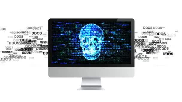 Attacchi di DDoS Attack, infezione trojan, virus sul computer. Computer infetto